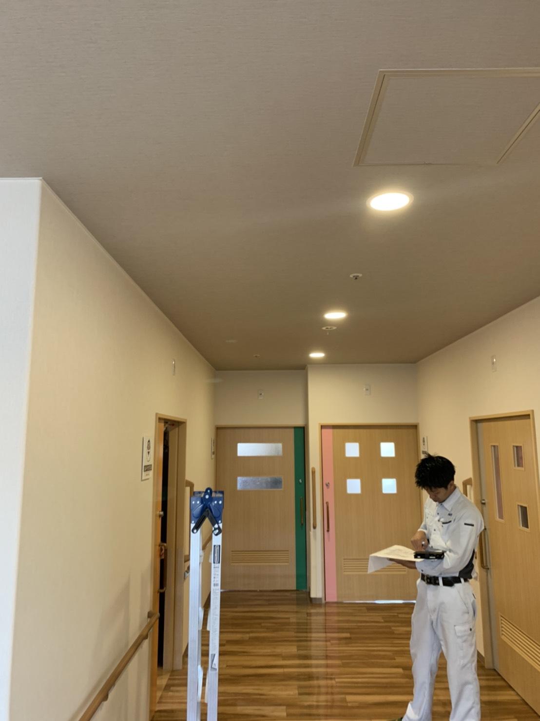 大手介護施設LED照明化工事 サブ04
